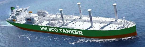 Vind skal hjælpe ny LNG-drevet tanker frem