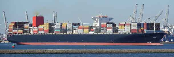 Mand overbord fra Maersk containerskib