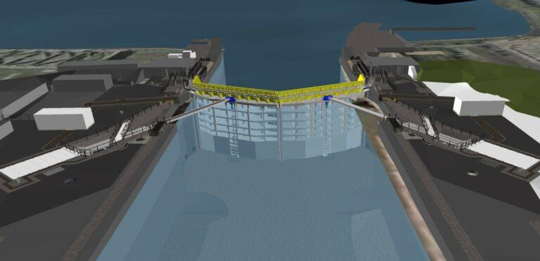 Havnen i Tilbury får nye porte mod oversvømmelse