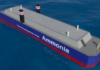 Concept vessel using ammonia