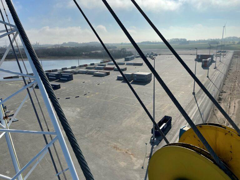 Nye containerterminal åbnet i Kalundborg