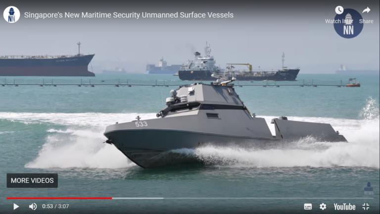 Video: Singapore tester ubemandede overvågningsskibe