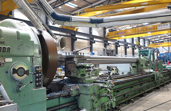 Manufacturing of a new propeller shaft in 10 days