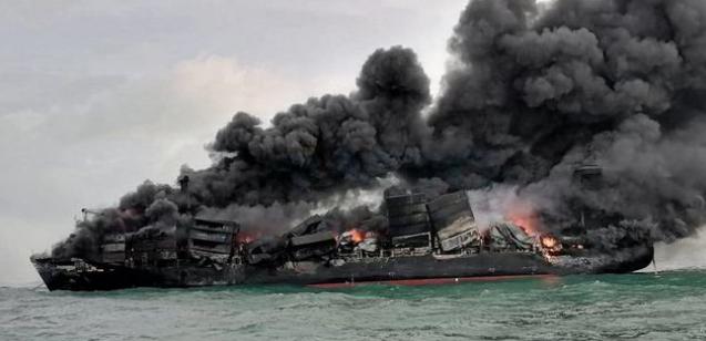 150km coastline affected by burnt debris from wreck