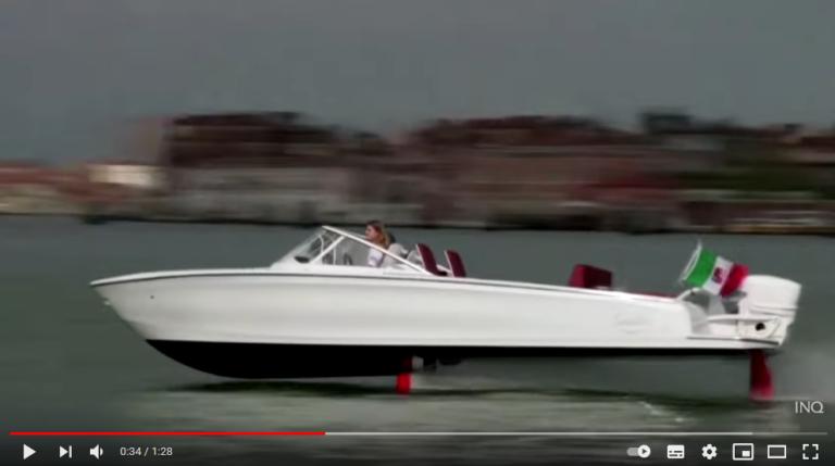 Vild video: Flyvende svensk båd skal redde Venedig