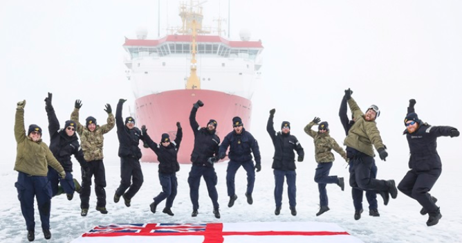 HMS Protector sails further north than any other RN ship
