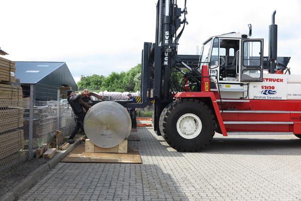 Flotte billeder: MarineShaft forøger råvarelager med 80,6 ton aksel