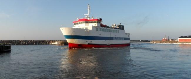 Prøvesejlads midt om natten – Nu sejler dansk færge igen