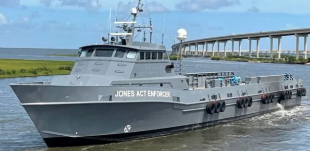 Jones Act Enforcer on the prowl for cabotage law breakers