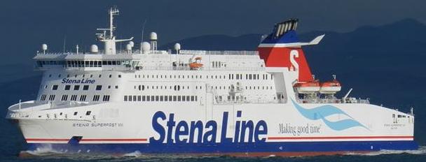 Brand på Stena Line-færge til Belfast