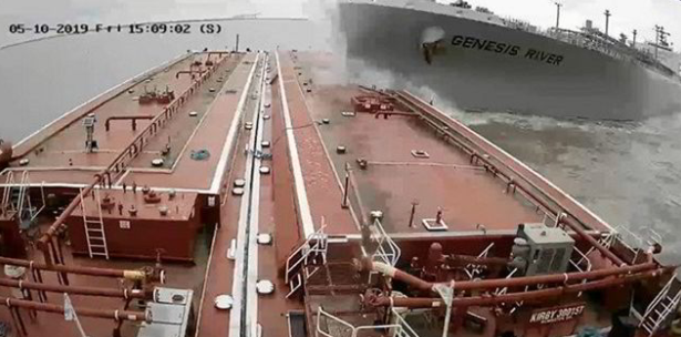 """K Line VLGC """"100% at fault"""" for Houston Ship Canal collision"""