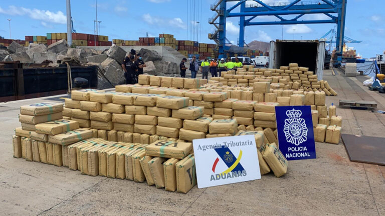 VIDEO: 20 Tons of Hashish Intercepted on Ship by Spanish Police
