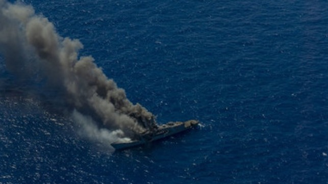 US Navy conducts live-firing and sinking exercise