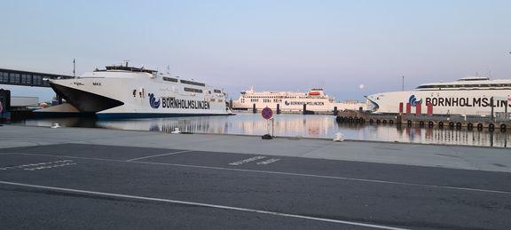 Bornholmlinjens hurtigfærge er koblet til landstrøm