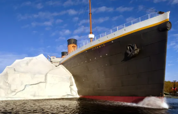 Three injured at Titanic museum as iceberg wall collapses