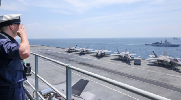 Royal Navy aircraft carrier enters the Pacific for the first time in decades