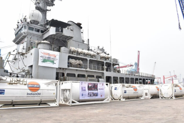 Indian naval vessel delivers medical supplies to Indonesia