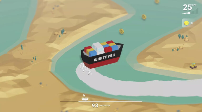 A Video Game on How to Steer a Container Ship