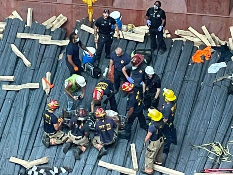 Man Falls 60ft into Ship Hull
