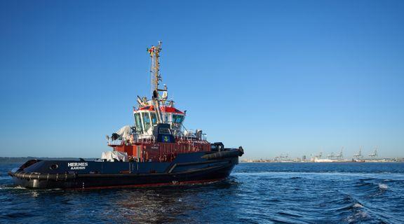Ny bugserbåd døbt i bæredygtighedens navn