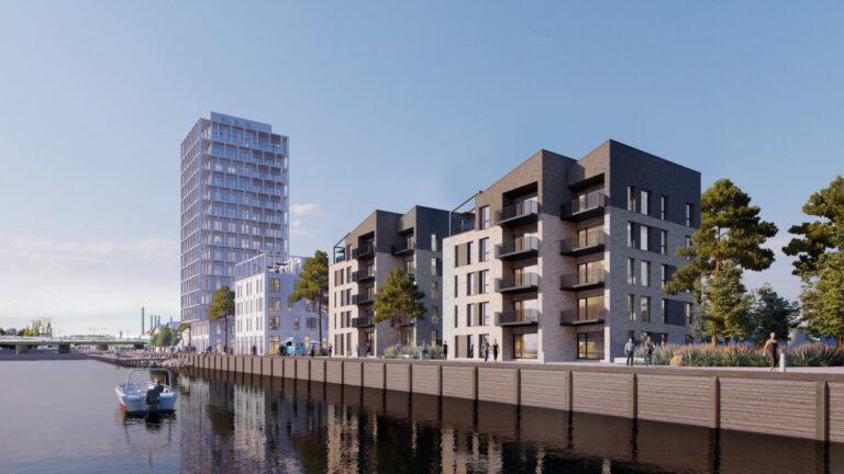 Sydsjællandsk havnefront skal prydes med 130 boliger